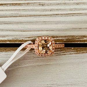 NWT 14kt Rose Gold Princess Cut Ring